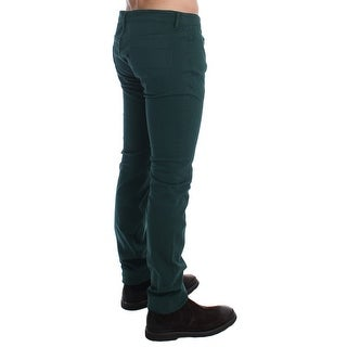 Costume National Green Slim Fit Cotton Stretch Pants Jeans - w34