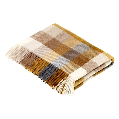 Merino Lambswool Throw Blanket - Harlequin - Made in UK