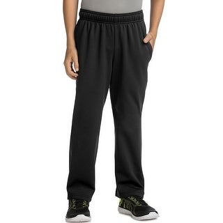 Hanes Sport Boy's Tech Fleece Open Leg Pants - Color - Black - Size - 2XL
