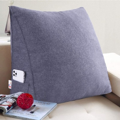 WOWMAX Bed Wedge Reading Pillow Sofa Daybed Triangle Chair Cushion