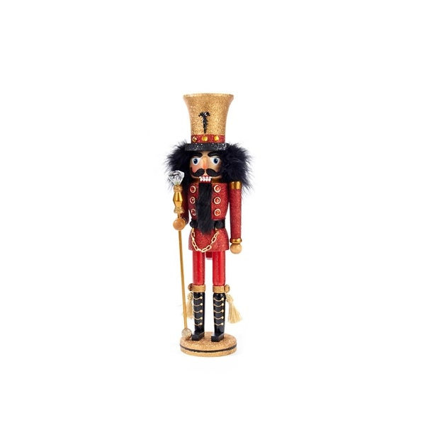 """17"""" Hollywood Red Guard with Gold Hat Decorative Wooden Christmas Nutcracker Soldier"""