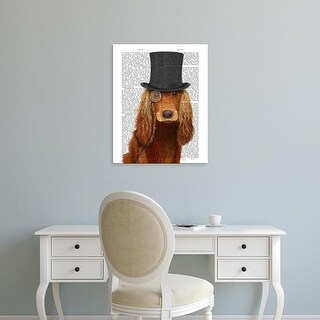 Easy Art Prints Fab Funky's 'Cocker Spaniel, Formal Hound and Hat' Premium Canvas Art
