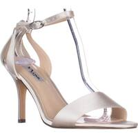 Nina Venetia Ankle Strap Dress Sandals, Ivory Crystal