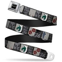 Attack On Titan Logo Full Color Black White Red Attack On Titan Military Seatbelt Belt Standard