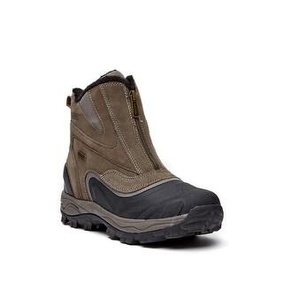 Khombu Mens rein 2 Leather Soft toe Zipper Safety Shoes