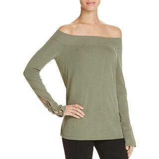 Splendid Womens Casual Top Modal Off-The-Shoulder