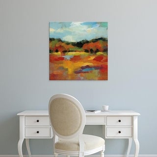 Easy Art Prints Silvia Vassileva's 'October Moment I' Premium Canvas Art