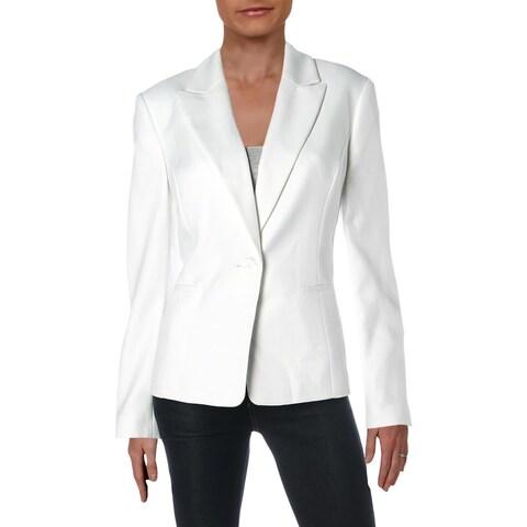 Le Suit Womens One-Button Blazer Herringbone Office - 10