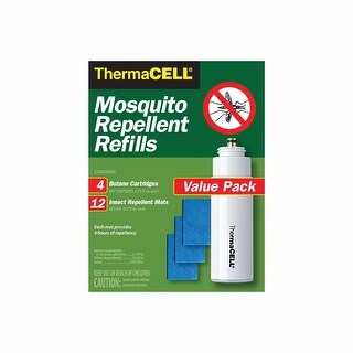 Thermacell Mosquito Repellent Refill Pack for Repellers, Torch and Lanterns (4 Cartridges, 12 Repellent Mats)