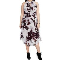 Rachel Rachel Roy Purple Womens Size 24W Plus Floral Sheath Dress
