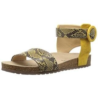 Geox Womens D Zayna E Leather Snake Print Gladiator Sandals - 8 medium (b,m)