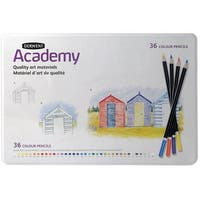 Derwent - Academy Colored Pencil Set - 12-Color Tin Set