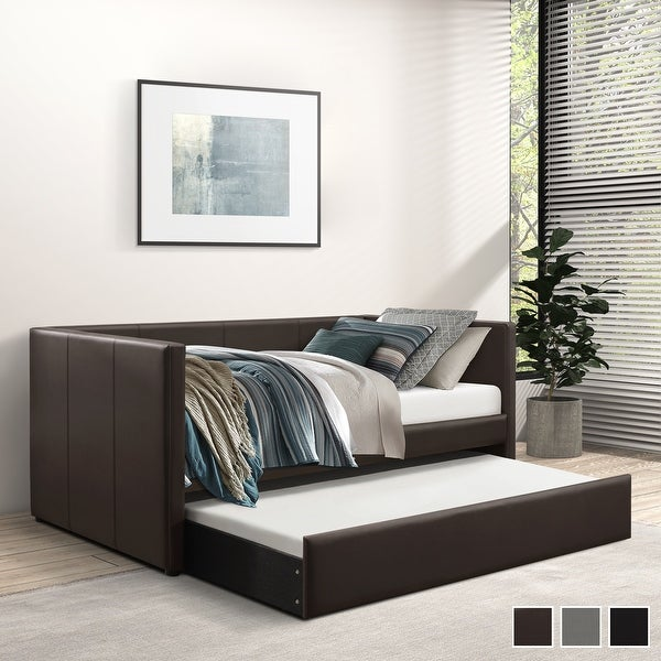 Elon Upholstered Daybed with Trundle. Opens flyout.