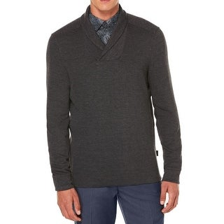 Perry Ellis NEW Gray Mens Size XL Shawl-Collar Pull-Over V-Neck Sweater