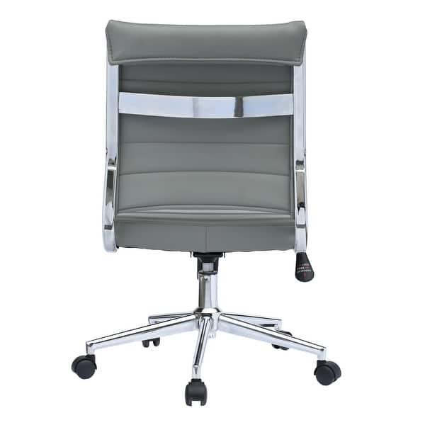 Shop 2xhome Ergonomic Executive Mid Back Pu Leather Office Chair Armless Side No Arms Tilt With Wheels Padded Seat Cushion Overstock 22808820