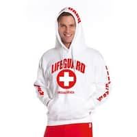 Official Lifeguard Guys Virginia Beach Hoodie White Large