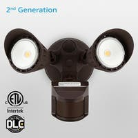 Newly Improved Dual-Head Outdoor Security Light, Motion & Photo Sensor, 3 Modes,3000k/5000k,Bronze