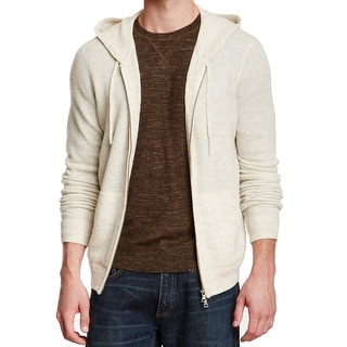 VINCE. NEW White Ivory Mens Size 2XL Full Zip Wool Knit Sweater