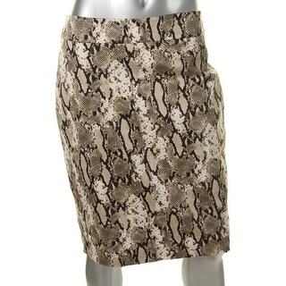 Jones New York Womens Lucy Stretch Snake Print Pencil Skirt - 12