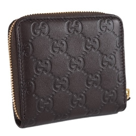 Gucci Women's 346056 Brown Leather GG Guccissima French Zip Around Wallet