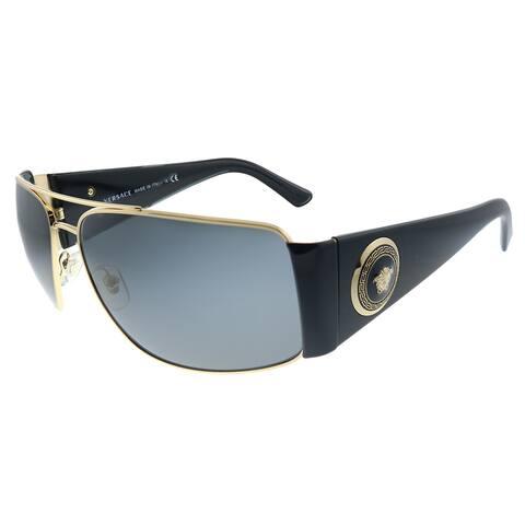 Versace VE 2163 100287 Unisex Gold Frame Grey Lens Sunglasses