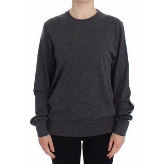 Dolce & Gabbana Dolce & Gabbana Gray Cashmere Silk Crewneck Sweater