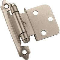 Amerock BPR3428G10 Self-Closing Cabinet Hinge, Satin Nickel