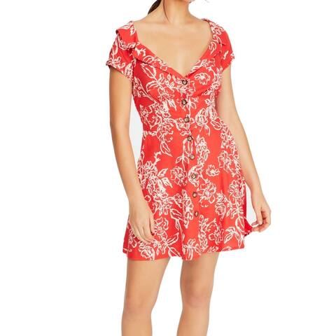 Free People Womens Dress True Red Size 2 Sheath A Thing Called Love