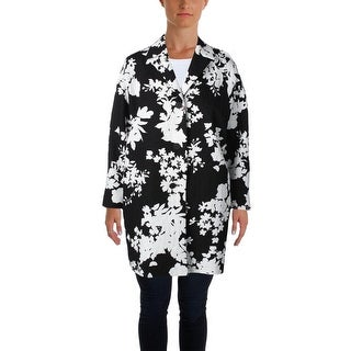 MaxMara Womens Trench Coat Textured Floral Print