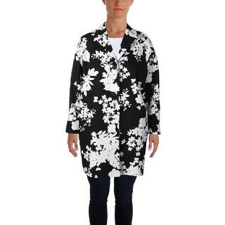 MaxMara Womens Trench Coat Textured Floral Print - 10