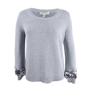 Michael Kors Women's Cotton Sequin-Cuff Sweater