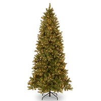 9 ft. Downswept Douglas(R) Slim Fir Tree with Clear Lights - green