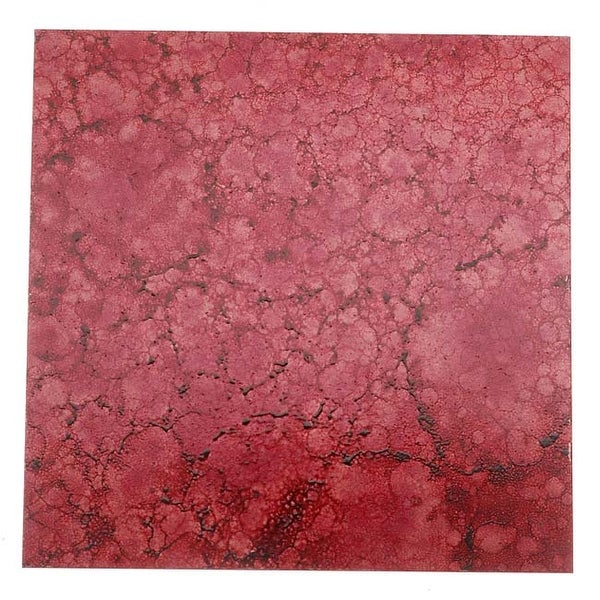 Lillypilly Copper Sheet Metal Square Red Wine Patina 24 Gauge - 3x3 Inch