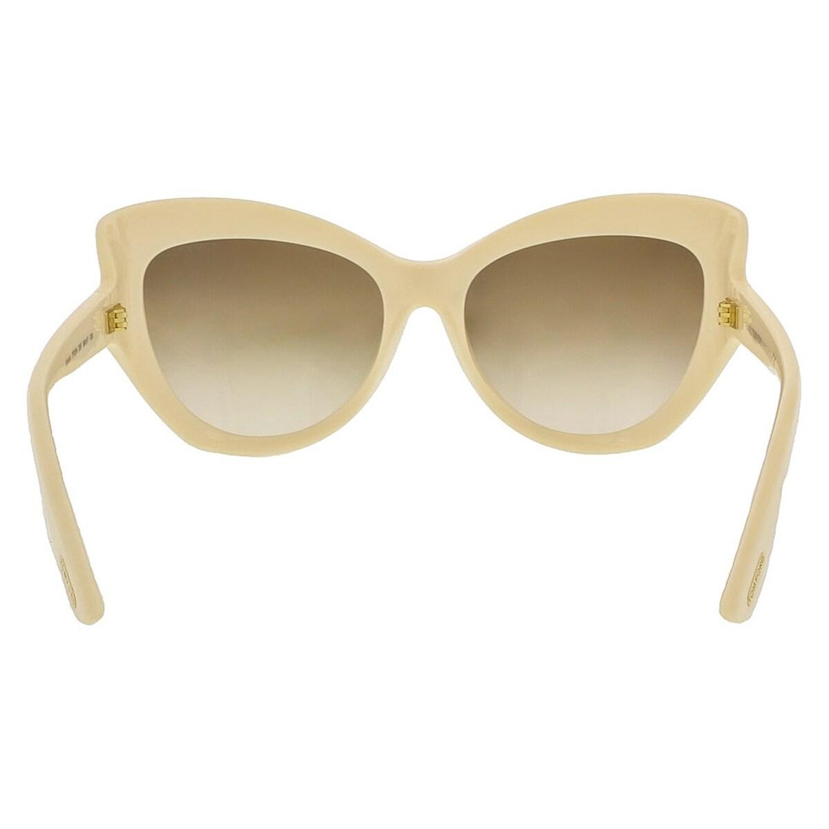 Tom Ford FT9284//S 25F Bardot Ivory Full Rim Cat Eye Sunglasses-Asian Fit