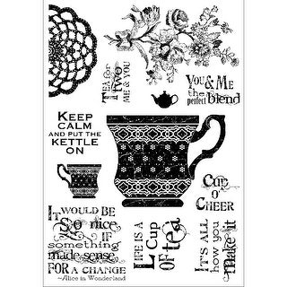"Darcie's Clear Stamp 4""X5.5""-Cup Of Tea"