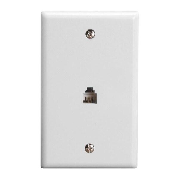 Wall Plate Jacks 6P4C Single White