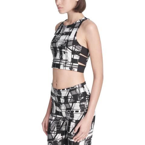 DKNY Sport Womens Bra Top Printed Stretch - S