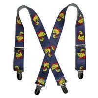 CTM® Kids' Elastic 1 Inch Wide Clip-End Duck Pattern Suspenders