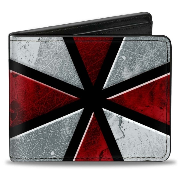 Resident Evil Umbrella Close Up Black Red White Bi Fold Wallet - One Size Fits most
