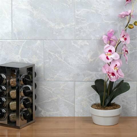SomerTile Aroas Gris 8 in. x 12 in. Ceramic Wall Tile