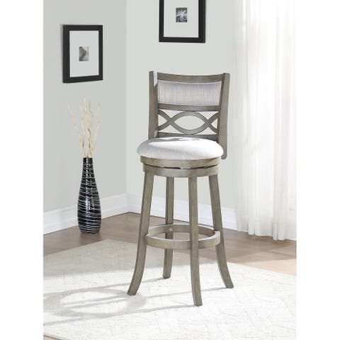 Manchester Antique Grey 29-inch Bar Stool with Fabric Seat