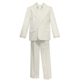 Baby Boys Ivory 5 Pcs Shirt Vest Jacket Tie Pants Suit