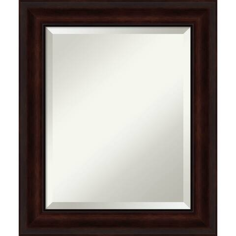 Coffee Bean Brown Bathroom Vanity Wall Mirror