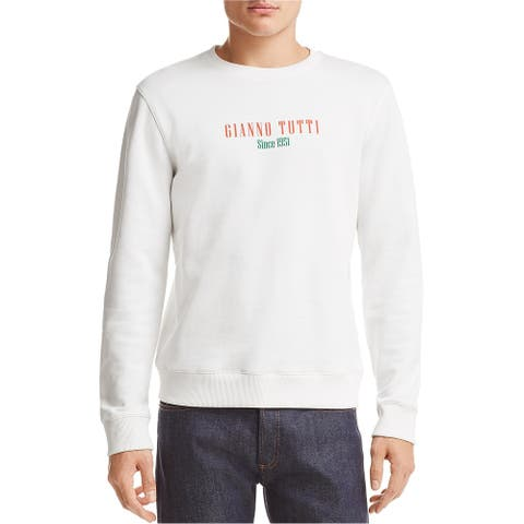 A.P.C Mens Gianno Tutti Sweatshirt, white, Large