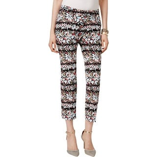 Anne Klein Womens Ankle Pants Floral Print Slim