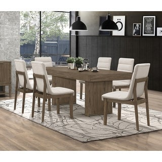 Link to Torrington Grey Tweed and Wheat Brown 7-piece Rectangular Dining Set Similar Items in Dining Room & Bar Furniture