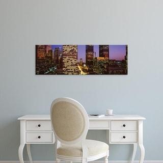 Easy Art Prints Panoramic Images's 'Night In Los Angeles, Los Angeles, California, USA' Premium Canvas Art