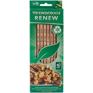 Natural - Ticonderoga Renew Recycled #2 Pencils 10/Pkg