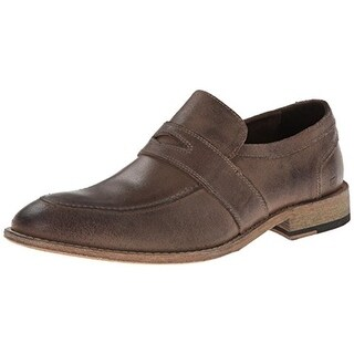 Andrew Marc Mens District Leather Round Toe Loafers - 12 medium (d)