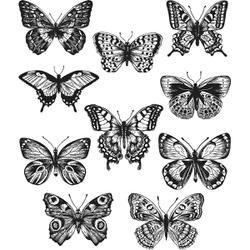 """Flutter - Tim Holtz Cling Stamps 7""""X8.5"""""""
